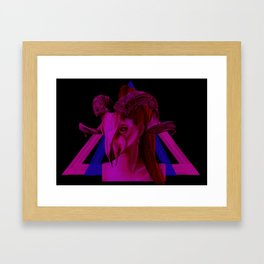 Neon Ram Girl Framed Art Print
