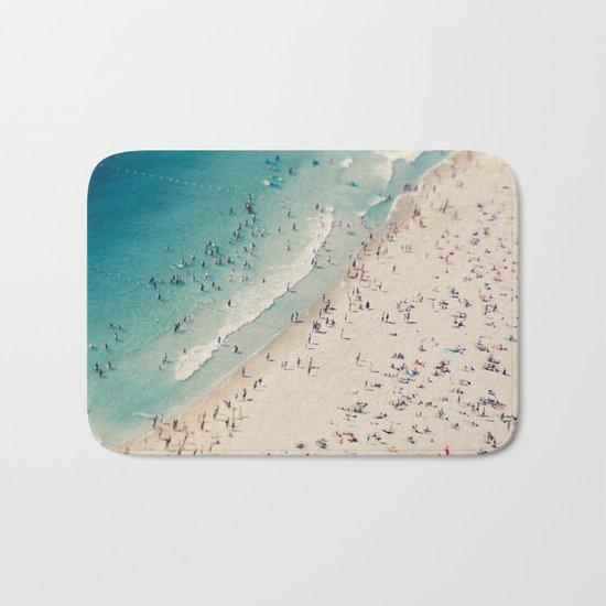 beach love V Bath Mat