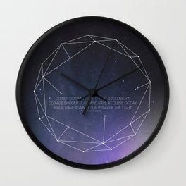 Light (Constellation) Wall Clock