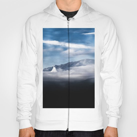 Mountains and fog. Landscape Hoody