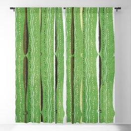 Vintage Japanese Woodblock Textile Pattern Blackout Curtain