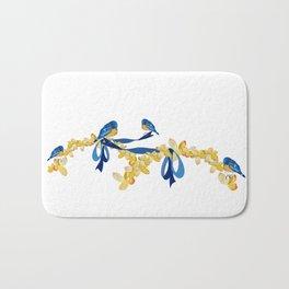 Bluebirds and Blossoms Bath Mat