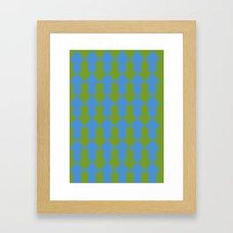 blue mainstream Framed Art Print