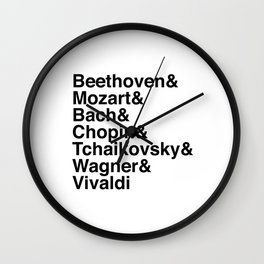 Helvetica Composers Wall Clock