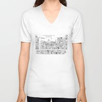 periodic table V-neck T-shirts featuring Periodic Table of the Elephants by DS Art
