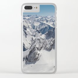 Snowy Alps Clear iPhone Case