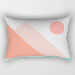 Geometric Landscape 13 Rectangular Pillow