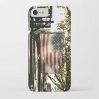 american flag iPhone & iPod Cases featuring American Flag by Shy Photog
