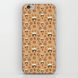 chef with fried chicken thigh tie iPhone Skin