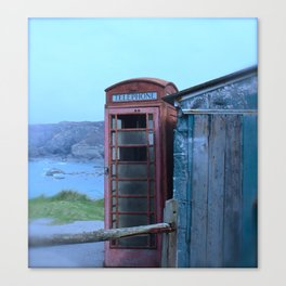 The lonely Telephone Box Canvas Print