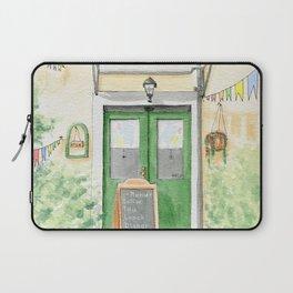 Cute Cafe Europa/ Cafe Entrance Design/ Restaurant Menu Laptop Sleeve