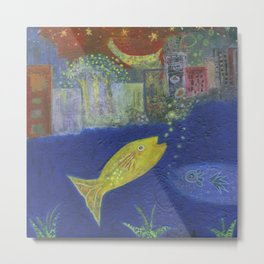 Just Like I Pictured It / Fish in the City Series #1 Metal Print