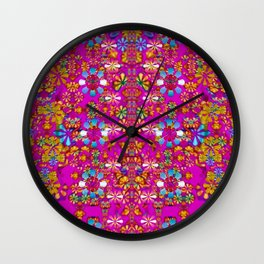 lianas of excotic in florals decorative tropical paradise style Wall Clock