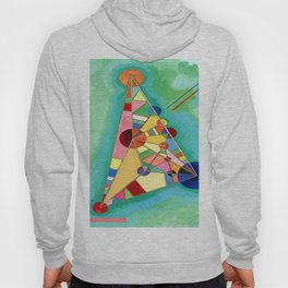 Wassily Kandinsky Multi Colored Triangle Hoody