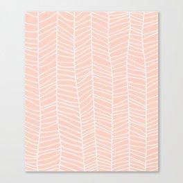 Baesic Herringbone (Coral) Canvas Print