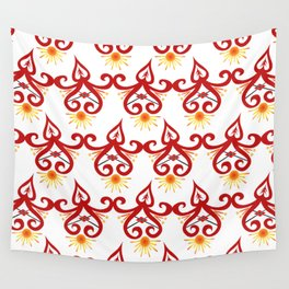 Firery Sprite Pattern Wall Tapestry