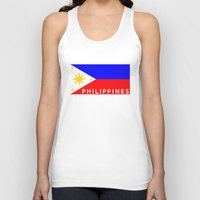 philippines Tank Tops featuring flag of Philippines by tony tudor