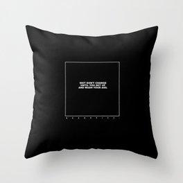 kenny (black) Throw Pillow