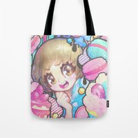 barachan Tote Bags featuring makokashi by barachan