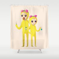 science Shower Curtains featuring Yeah Science by Nan Lawson