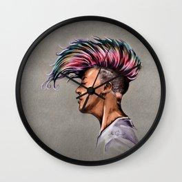 RGD Punk Rock Girl Portrait | Nikki the Bee Wall Clock