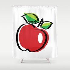 Apple Swoozle Shower Curtain