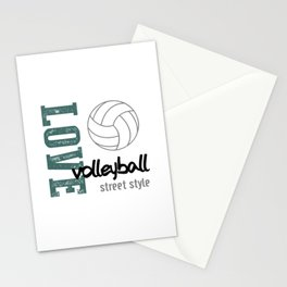 Love Volleyball Street Style Stationery Cards