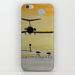 Yellow last flight iPhone Skin