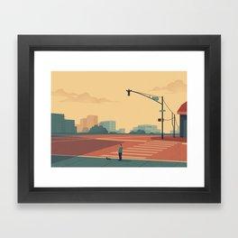 Urban Wildlife - Giraffe Framed Art Print