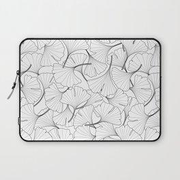 ginkgo leaves (white) Laptop Sleeve