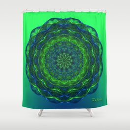 Healing mandala Shower Curtain