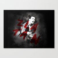 zlatan Canvas Prints featuring Zlatan by DL Design