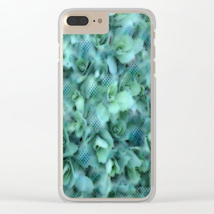 Flower | Flowers | Sedum Dot Graphic Clear iPhone Case