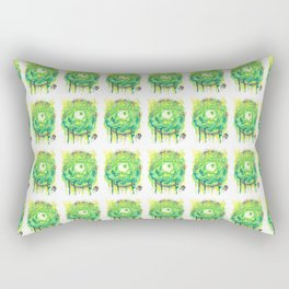 Eyes Series GREEN Rectangular Pillow