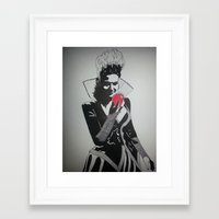 evil queen Framed Art Prints featuring Evil Queen by badashh
