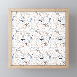 Chaotic Particle Physics on White Framed Mini Art Print