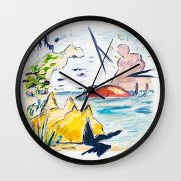 X voYages de Zed (toile 11 - série 1) Wall Clock