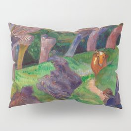1889 - Gauguin - Brittany Landscape with cows Pillow Sham