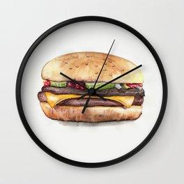 Color pencil Hamburger Wall Clock