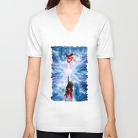 wreck it ralph V-neck T-shirts featuring THOR vs RALPH by Raisya