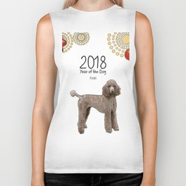 Year of the Dog - Poodle Biker Tank