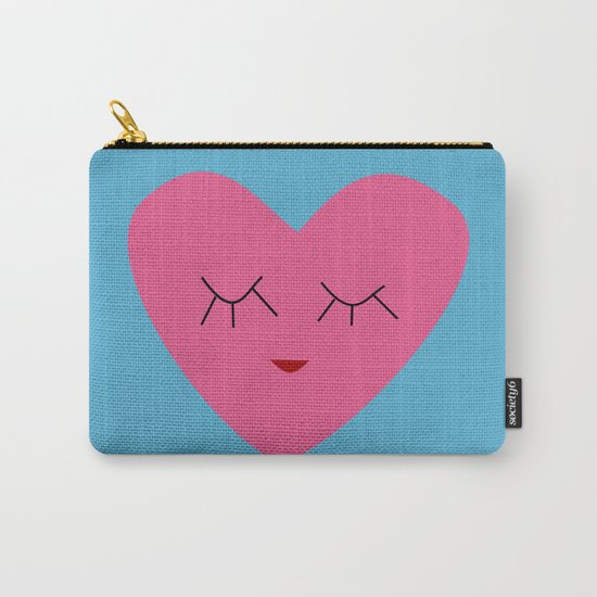 valentines heart blue Carry-All Pouch