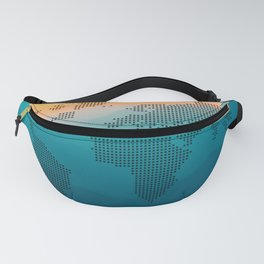 World map mountain Fanny Pack