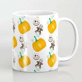 Orange pumpkins vector pattern for Halloween Coffee Mug