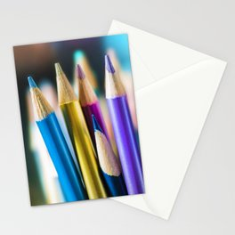 METTALIC COLORED PENCILS Stationery Cards