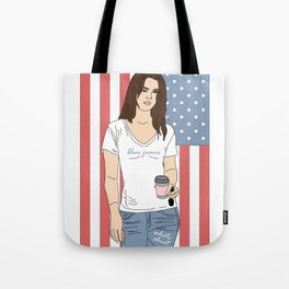 Blue Jeans, White Shirt - Lana Luva Illustration Tote Bag