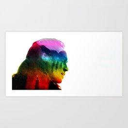 Lexa Pride Art Print