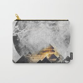 One mountain at a time - Black and white Carry-All Pouch