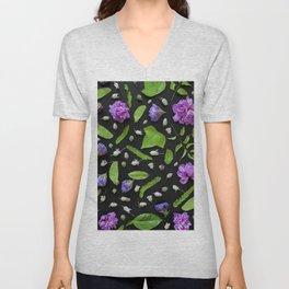 Leaves and flowers pattern (17) Unisex V-Neck