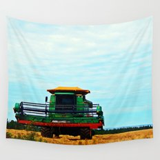 Harvester on the Ridge Wall Tapestry